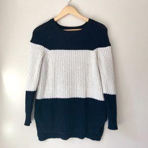 J. Crew Navy Color-block Sweater